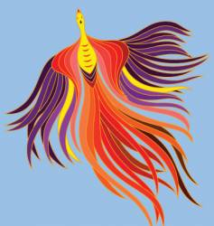 flying phoenix vector image