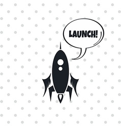 space shuttle rocket vector image vector image