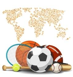 World sport deportes concept Sports equipment vector image vector image