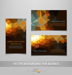 abstract business card templates vector image