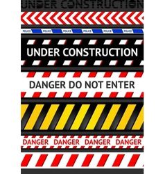 caution tapes seamless strip warning line vector image