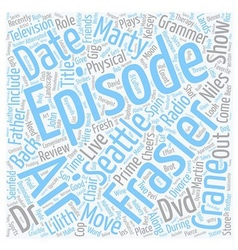 Frasier DVD Review text background wordcloud vector image