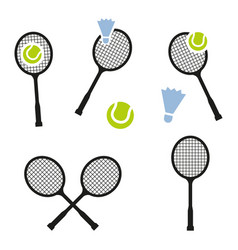tennis racket sign icon sport symbol vector image