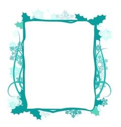 Winter floral frame vector image vector image