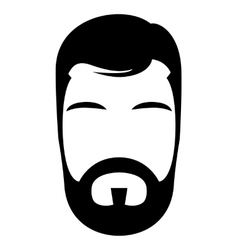 Bearded man vector image vector image