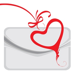 envelope and decorative heart vector image