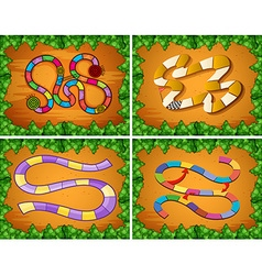 Four designs of game template vector image vector image