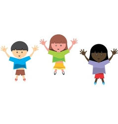 kids jumping vector image vector image