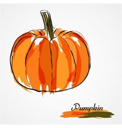 Pumpkin fruit vector image vector image
