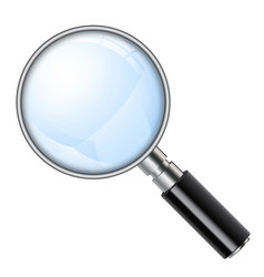 magnifying glass magnifier vector image vector image