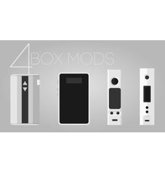 4 box mods set vector