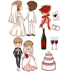 A simple sketch of a wedding vector image