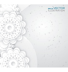 Abstract white flowers background vector image