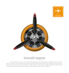 aircraft engine in realistic style vector image