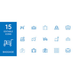 Baggage icons vector