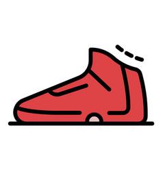 Basketball shoe icon color outline vector