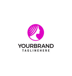beauty woman logo design concept template vector image