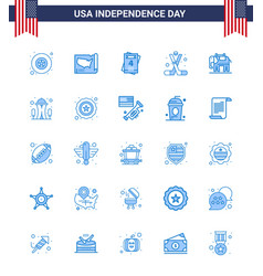 Big pack 25 usa happy independence day usa vector
