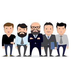business team - group businessman character vector image