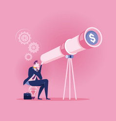 businessman searching smart vision for good vector image