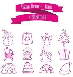 Christmas set icons vector