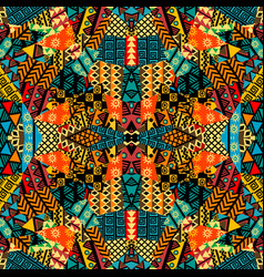 Colored ethnic patchwork mosaic with african vector