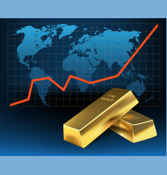 Concept growth gold in financial world vector