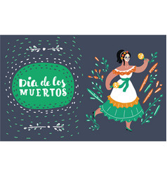 dancing woman card vector image