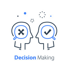 Decision making under uncertainty choice fork vector