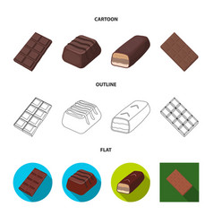 Design chocolate and flavor logo set of vector