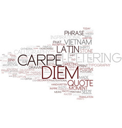 Diem word cloud concept vector