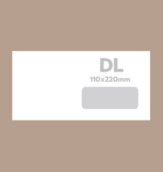 dl envelope mockup realistic style vector image