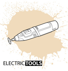 drill on a bright background vector image