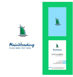 Dubai hotel creative logo and business card vector