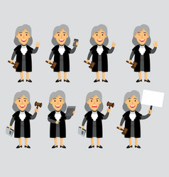 Female judge cartoon mascot vector