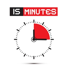 Fifteen Minutes Stop Watch - Clock vector