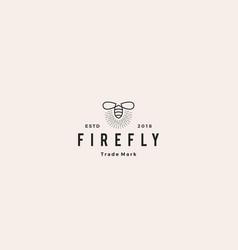 firefly logo hipster retro vintage icon design vector image