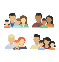 Flat couples vector image