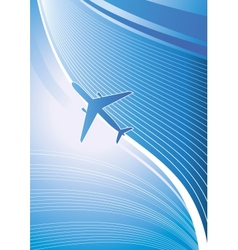Flying airplane vector image