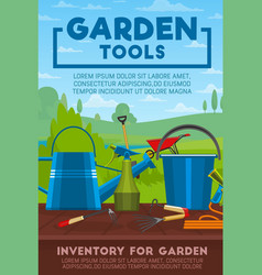 Gardening tools and work equipment vector