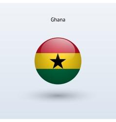 Ghana round flag vector image