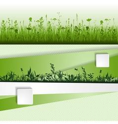 Grass strip vector