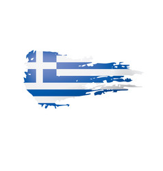 Greece flag on a white vector
