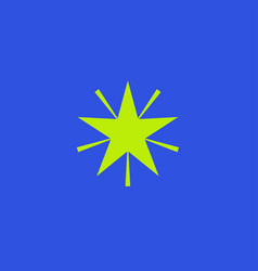 Green star icon on blue background vector