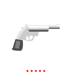 gun revolver it is icon vector image