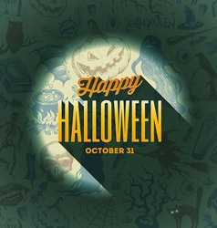 Halloween type design on a hand drawn background1 vector