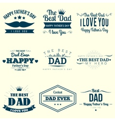 Happy Fathers Day Design Collection vector image