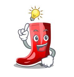 Have an idea muddy farmer boots shape the cartoon vector