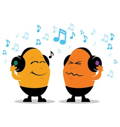 Headphone Music Cartoon vector