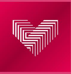 Heart logo v letter logo design vector